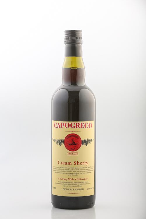 Capogreco Cream Sherry Wine - Sunraysia Cellar Door - Mildura