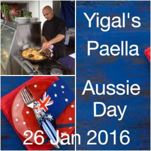 Our World Famous Chef Yigal will dishing up Paella ALL DAY on Aust Day